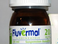 Flacon fluvermal (flubendazole) 20 mg/ml