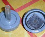 Bioréacteur aquarium : bouchon collé avec du silicone.