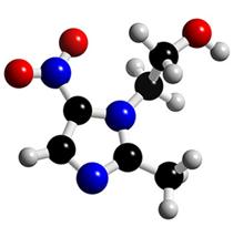 Formule développée 3D du Metronidazole